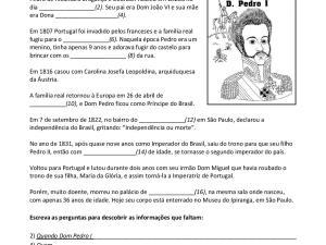 Esse material didático tem foco oral para aulas de português para estrangeiros com a biografia de um importante personagem brasileiro: Dom Pedro I.