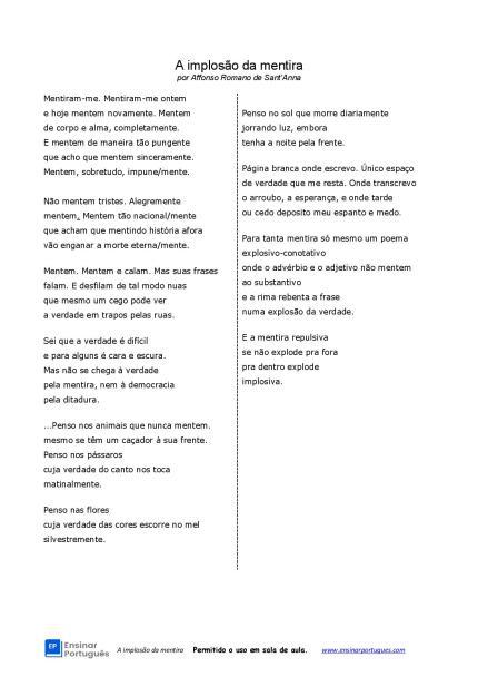 Esta atividade de gramática para aulas de português para estrangeiros traz uma poesia de Affonso Romano de Sant'Anna e foca em advérbios de modo e cultura.