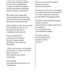 Esta atividade traz uma poesia de Affonso Romano de Sant'Anna adaptada para PLE que propõe-se a trabalhar advérbios de modo com vocabulário e cultura.