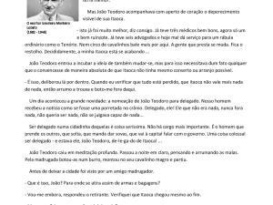 Interpretação de um texto clássico de Monteiro Lobato que gera conversa com o vocabulário dado aos estudantes de português para estrangeiros.