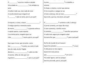 Essa atividade auditiva traz uma música para ensinar português para estrangeiros escrita pelo compositor brasileiro Sidney Miller é focada em expressões!