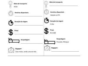 Atividade oral de português para estrangeiros sobre viagem focada na interação a ser feita em duplas. Com uma página personalizável!