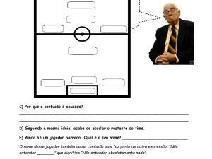 Atividade de audição com vídeo para aulas de português para estrangeiros usando um material original focado em vocabulário futebolístico.
