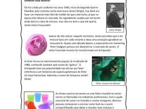 Atividade de leitura e interpretação de texto em aulas de português como língua de herança e para estrangeiros.