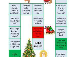 Jogo linguístico focado no vocabulário, história e vivência dos estudantes sobre o Natal, incluindo versão para aulas online.