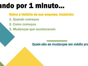 Nesse material de português para negócios os estudantes são incentivados a falar sobre tópicos propostos relacionados à sua experiência.