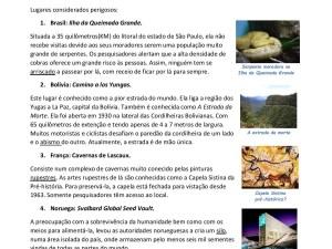 Atividade com texto em aula de português para estrangeiros com uma provocação para muita conversa, vocabulário e gramática!