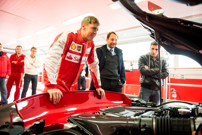 Vettel looking in the back of the FXX K