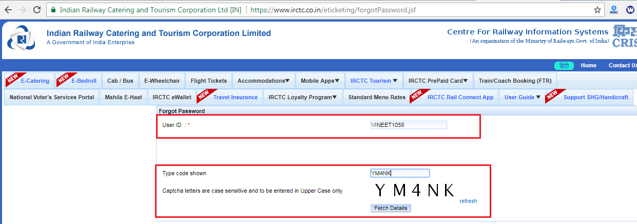 What Security Question Irctc