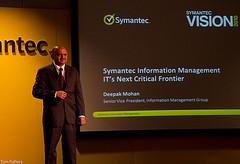 Deepak Mohan at Symantec Vision 2010