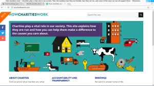 How Charities Work - web site page image