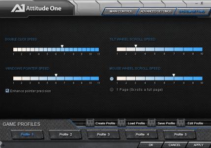 Vintorez system settings