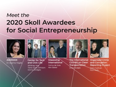2020 Skoll Awardees for Social Entrepeneurship graphic
