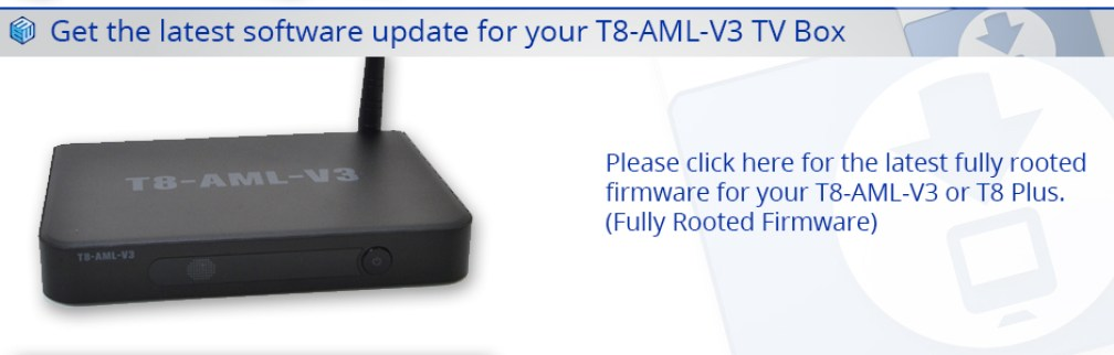 Download Latest T8AMLV3 Firmware Upgrade
