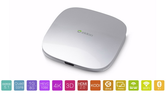 Zidoo X5 TV Box latest Android Lollipop 5.1.1 custom firmware Download