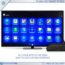 What the menu on the Droid TV box T8 v3s looks like
