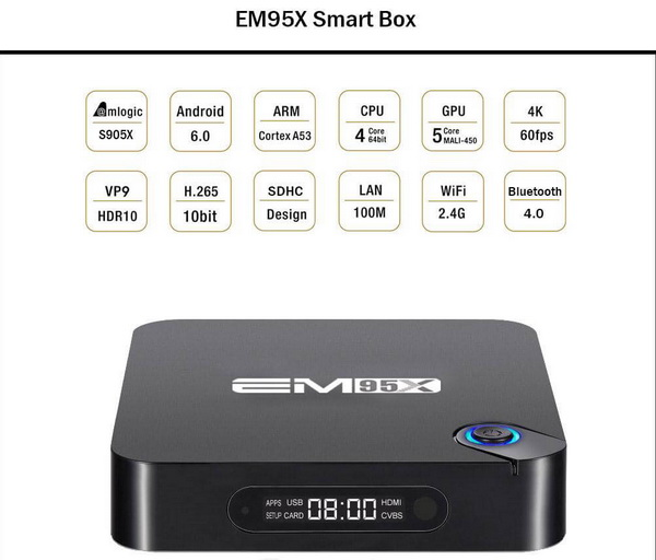 EM95X TV Box Android Marshmallow 6.0 firmware Download