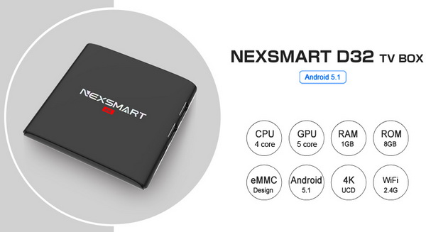 Nexsmart D32 TV Box Android Lollipop 5.1.1 firmware Download