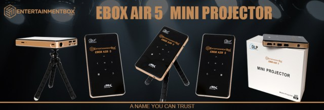 EBox Air 5 portable projector Android 5.1, Apps, 4K decoding Kodi 17.1