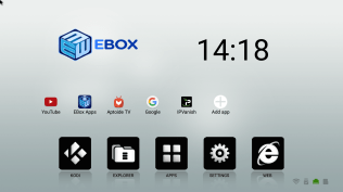 EBox Android Launcher with apps