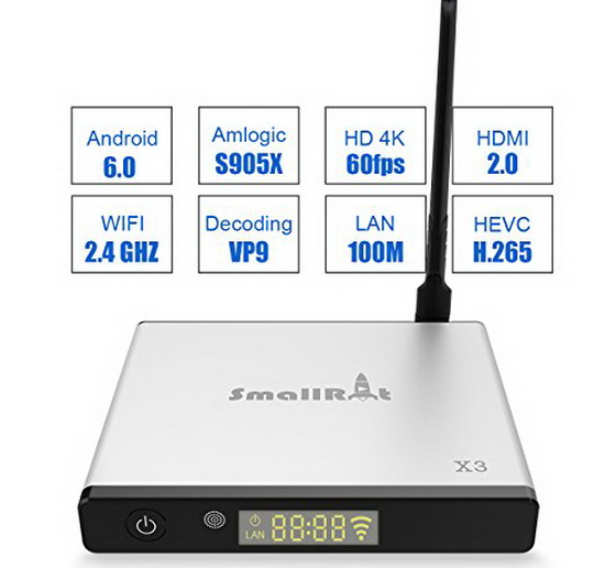 Latest SMALLRT X3 TV Box Firmware Download Android Marshmallow 6.0