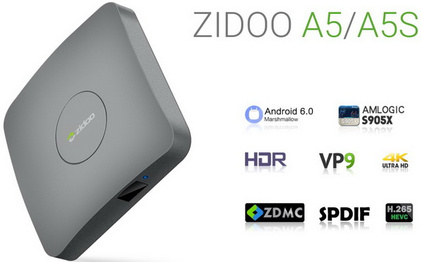 Latest Zidoo A5S TV Box Android Marshmallow 6.0 Firmware Download