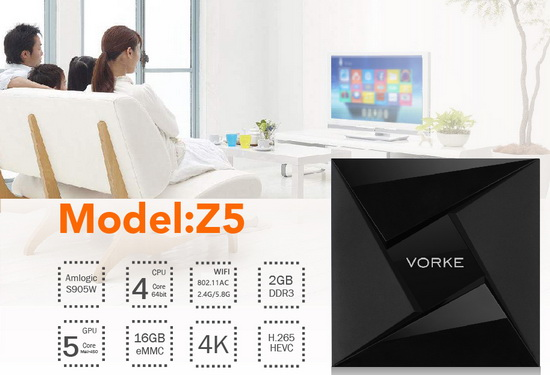 Latest Vorke Z5 TV Box Firmware Download Android Nougat 7.1.2