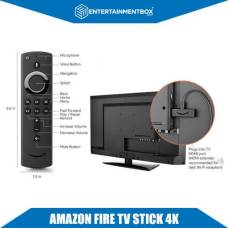 4K Firestick With remote and connected to TV