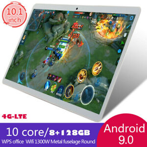 """10.1"""" 4G-LTE Tablet PC 8+128GB 10Core Android 9.0 Wifi Phone Phablet Dual SIM UK"""