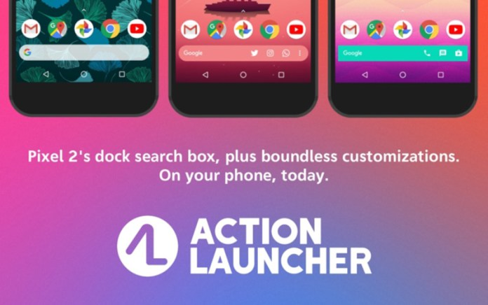 Action Launcher Android Google Pixel 2