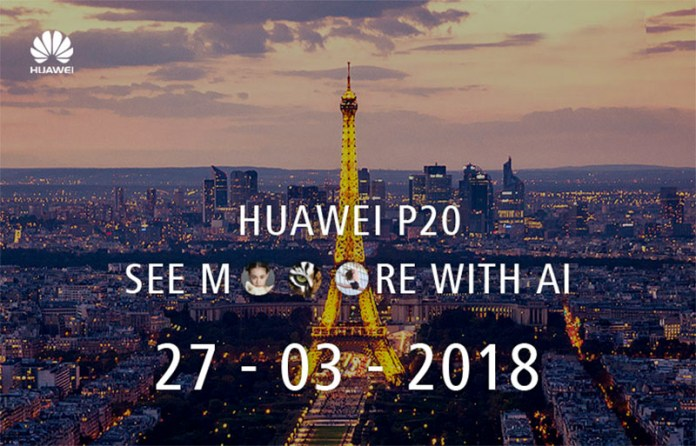 Huawei P20 Android 3 cameras single mirror