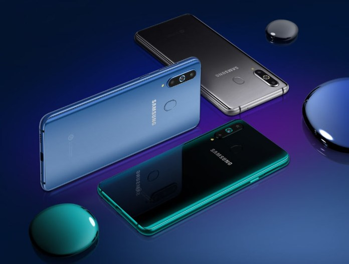 Samsung Galaxy A8s Android smartphone 3