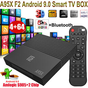 A95X F2 4+64G Android 9.0 Quad Core Dual WIFI TV BOX 4K BT H.265 Amlogic 3D View