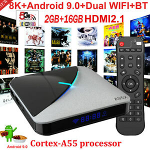 A95X F3 AIR Smart TV Box Android 9.0 8K HD 4K 75fps S905X3 2GB/16GB Media Player
