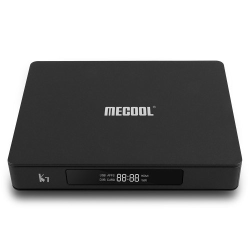 MECOOL K7 DVB - S2 - T2 / TC 4GB LPDDR4 64GB EMMC 4K TV Box with Dual WiFi Amlogic S905X2 HDR10 H.265