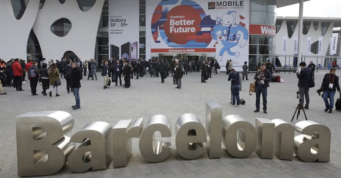 MWC entrance in Barcelona