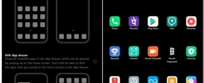 XIAOMI MIUI WITH application drawer