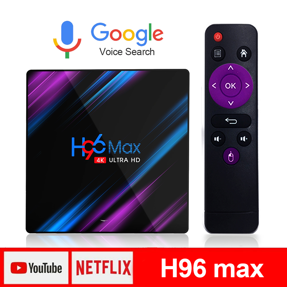 H96 max TV Box Android 9.0 RK3318 4K Netflix Youtube Android TV Box LEMADO Google Voice Smart TV Box Smart Prefix for TV on AliExpress