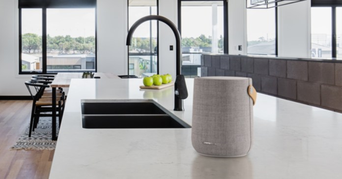 Harman Kardon's new speaker is a mix between B&O and Bose