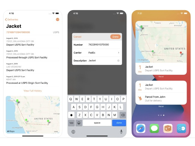 Parcel - Delivery Tracking app iOS