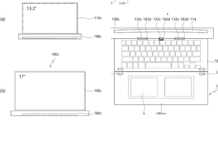 LG patent portable scrollable screen