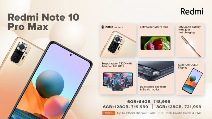 Features of Redmi Note 10 Pro Max