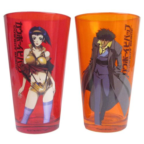 Cowboy Bebop Spike And Faye Pint Glass 2 Pack Surreal