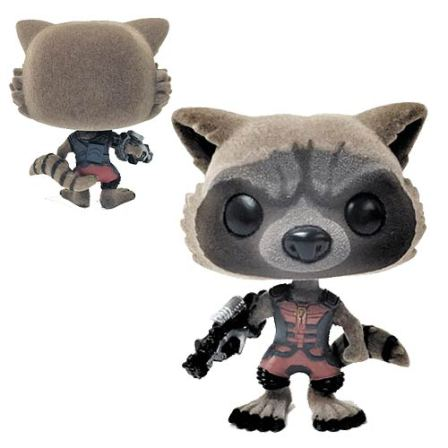 GOTG Ravager Rocket Racoon Flocked Pop! Vinyl Figure Exc.