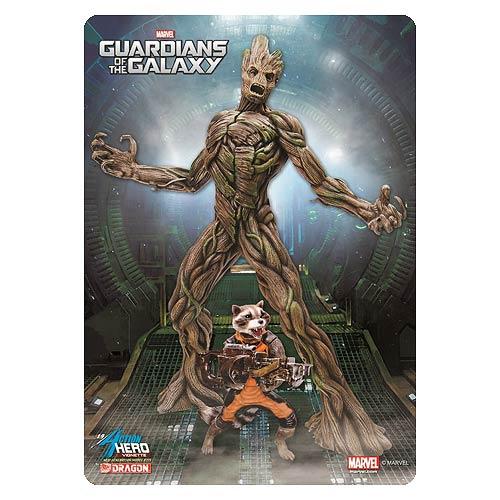 Guardians Galaxy Groot with Rocket Racoon AHV Model Kit