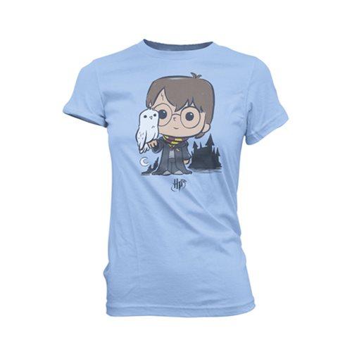 Harry Potter and Hedwig Super Cute Juniors T-Shirt