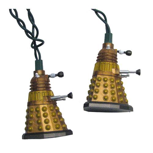 Doctor Who Bronze Dalek Light Set