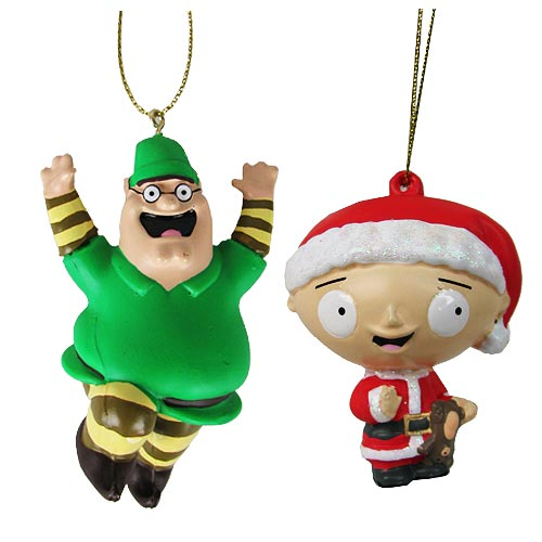 Family Guy Peter and Stewie Griffin Ornament Set
