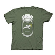 Firefly Caught In A Jar Green T-Shirt