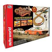 Dukes of Hazzard Curvehuggers Slot Car Racing Playset